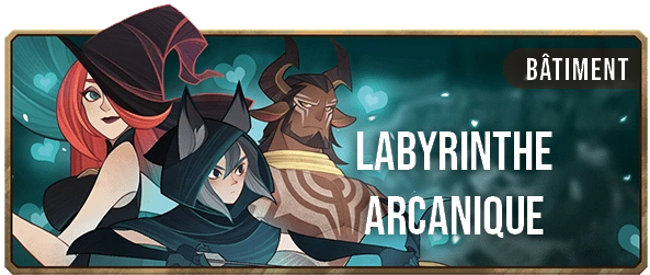 Le Labyrinthe Arcanique - Bannière - AFK ARENA