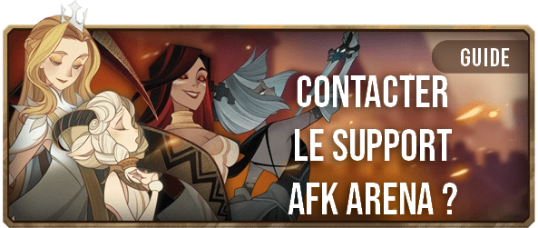 Contacter le support AFK ARENA - Bannière - AFK ARENA