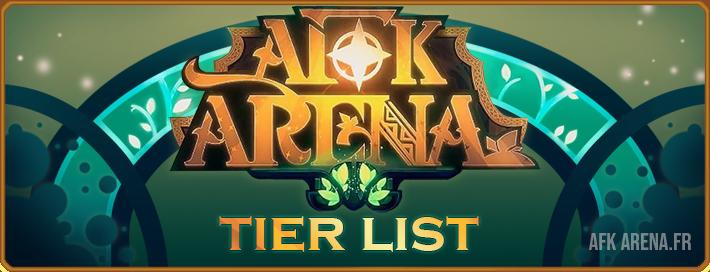 Tier List - Bannière - AFK ARENA